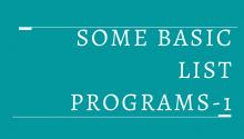 Some Basic List Programs-1