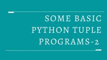 Some Basic Python Tuple Programs-2