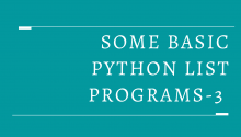 Some Basic Python List Programs-3