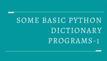 Some Basic Python Dictionary Programs-1